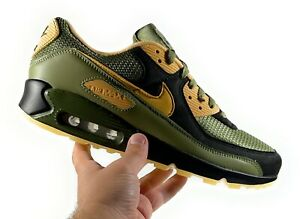 """Nike By You ID Air Max 90 """"RQ"""" Olive Green Black Men's Size 10.5 [CT3621-991]"""
