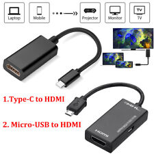 Type C MHL USB to HDMI HDTV AV TV Cable Adapter For Samsung Android Apple Phone