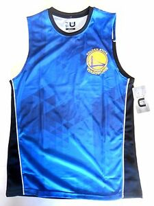 NEW Licensed Golden State Warriors Basketball Jersey NBA Stephen Curry B AWESOME