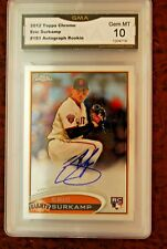 GRADED BASEBALL CARD 2012 TOPPS CHROME ROOKIE ERIC SURKAMP AUTO GEM MINT 10