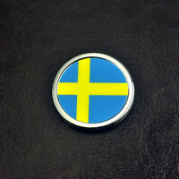 3D Sweden Flag Style Sticker Car Body Side Rear Trunk Badge For XC90 XC60 S60