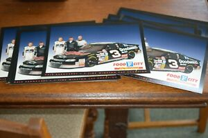 16 1998 DALE EARNHARDT SR. #3 GOODWRENCH FOOD CITY RACING POSTCARDS RACING TEAM