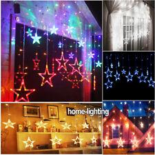 2M 138 LED Christmas Wedding String Fairy Star Light Window Wall Curtain Display