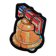 Liberty Bell American Flag Patch, Patriotic US Flag Patches