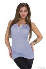 Maglie e camicie da donna camicette grigi cotone