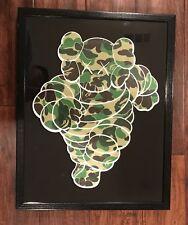 Kaws Bape OriginalFake Chum Companion Framed art print shirt 14 x 18