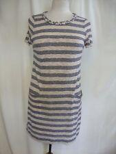 Ladies Dress Marc Jacobs size S blue beige fine knit, stretch, pockets, 1219