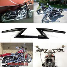 """Motorcycle 1"""" 25mm Z Bars Handlebars For Harley Custom Softail Sportster XL883"""