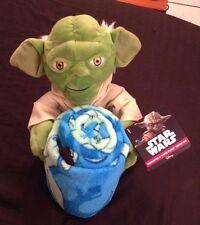 "Star Wars Yoda Character Super Plush & Throw Set 40""x50"" - 10"" high plush"