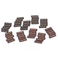 """50pcs Square """"hand made"""" decorative wood buttons sewing supplies scrapbooking*"""