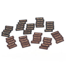 "50pcs Square ""hand Made"" Decorative Wood Buttons Sewing Supplies Scrapbooking FG"