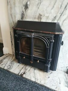 Parkray Chiltern Fire Multi-fuel burner with marble backing to fit