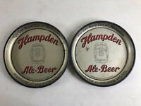 """Vintage Lot of 2 Hampden Ale-Beer 13"""" Collectible Trays"""