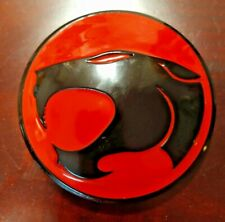 "Black & Red 3.75"" Large Thundercats Logo Metal/Enamel Domed Belt Buckle"