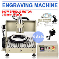 4 Axis 3040 CNC Router Engraver Engraving Drilling Milling Machine 3D Cutter USA