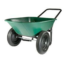 2 Tire Wheelbarrow Yard Garden Cart Utility Poly Plastic Yard Rover 5 Cu Ft NEW.