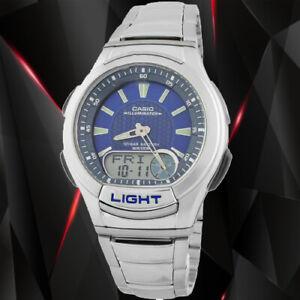 Casio AQ-180WD-2AV Mens Analog Digital Sports Databank Watch LED World Time New