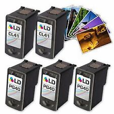 LD © Canon #PG-40 & #CL-41 Remanufactured Combo Set - 3 Black 2 Color
