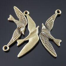 30PCS Antique Bronze Swallow Bird Pendant Charms  03891