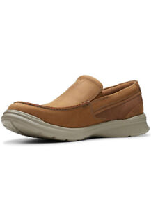 Official Clarks Cotrell Easy Tan Adult Men's Shoes Size 11-12 NIB BNWT $90.00