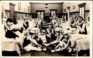 MACK SENNETT COMEDIES GIRLS BATHING BEAUTIES FLAPPERS OLD REAL PHOTO POSTCARD