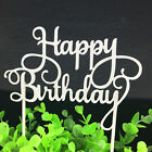 Happy Birthday Gold Silver Letters Cake Topper Party Supplies and Decorations