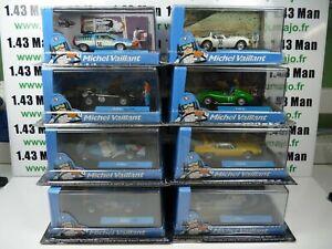 Lot 8 voitures altaya IXO 1/43 diorama BD MICHEL VAILLANT pair