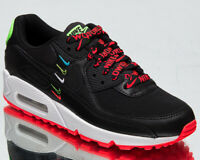 Nike Air Max 90 Worldwide Women's Black Flash Crimson Lifestyle Sneakers Shoes