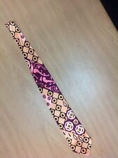 "Period Perfect Vintage 4"" wide pink / gold / brown neck tie"
