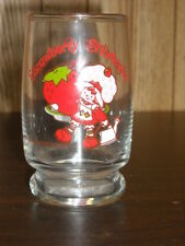 """1980 Strawberry Shortcake 4"""" Tall Drinking Glass Cup by American Greetings"""