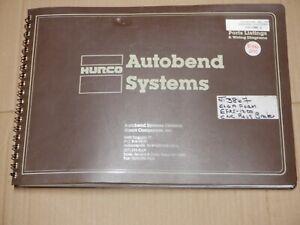 HURCO 5C AUTOBEND SYSTEMS PRESS BRAKE PARTS LIST & WIRING DIAGRAMS