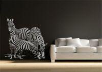 Wild Zebra African Safari Wall Sticker Decal Mural Transfer Stencil Art Vinyl