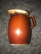 "Vintage HULL Oven Proof - BROWN DRIP CREAMER 4 1/2"" tall Table Top Made in USA"