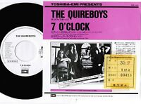 """QUIREBOYS 7 O'clock /There She Go JAPAN PROMO-ONLY 7"""" SINGLE PRP-1444 Free S/H"""