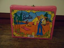 VINTAGE PINK 1972 BARBIE LUNCH BOX WITH A 1973 BARBIE THERMOS