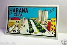 Cuba El Prado Habana Vintage Style Travel Decal / Vinyl Sticker, Luggage Label