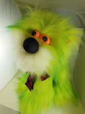 """Prototype Shaggy Dog Sample Fine Toy Co Korea Maybe One of a Kind Neon Green 13"""""""