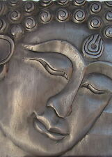 Buddha Wall Plaque   Brand New   Pewter Metallic Finish
