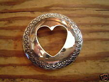 "Concho: Custom Sterling 2"" for Breast Collar w/ cutout Heart"