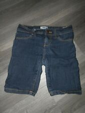 Old Navy Girls Bermuda Denim Stretch Jean Shorts Adjustable Waist SIZE 6