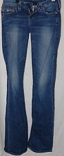True Religion Womens Juniors Hi Rise Boot Jeans Pants 25 Distressed Blue USA