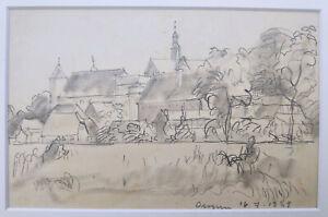 """Kliefert, Erich(1893 Berlin–1994 Stralsund)""""Blick auf Dargun in Mecklenburg""""1934"""
