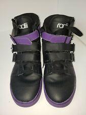 Radii Straight Jacket Black/Purple Leather Shoes. Men's Size 12 Pre-Ownwed