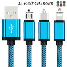 1~3M Braided Lightning Fast Charger Data Sync iOS Cable Cord For iPhone Sumsung