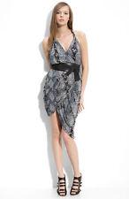 NEW SEVENTY TWO CHANGES 'Tori' Wrap DRESS SNAKE SIZE L $288 NORDSTROM
