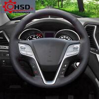 DIY Sewing Car Leather Steering Wheel Cover For Hyundai ix45 Santa Fe 2013-2016