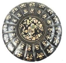 ANTIQUE JAPANENESE CHINESE SE ASIAN BLACK LACQUER MOTHER OF PEARL WEDDING BOX a