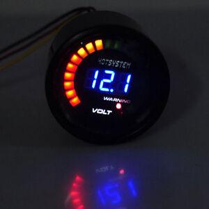 """2"""" 52mm Digital 20 LED Elec Volt Voltmeter Voltage Gauge Meter For Car Motor SL"""