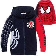 Spiderman Kapuzenjacke Kinder Jungen Sport Hoodie Mantel Kapuzenpullover Jacke.