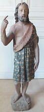 statue religieuse sculpture bois polychrome 18ème Saint Jean-Baptiste  ht 109 cm